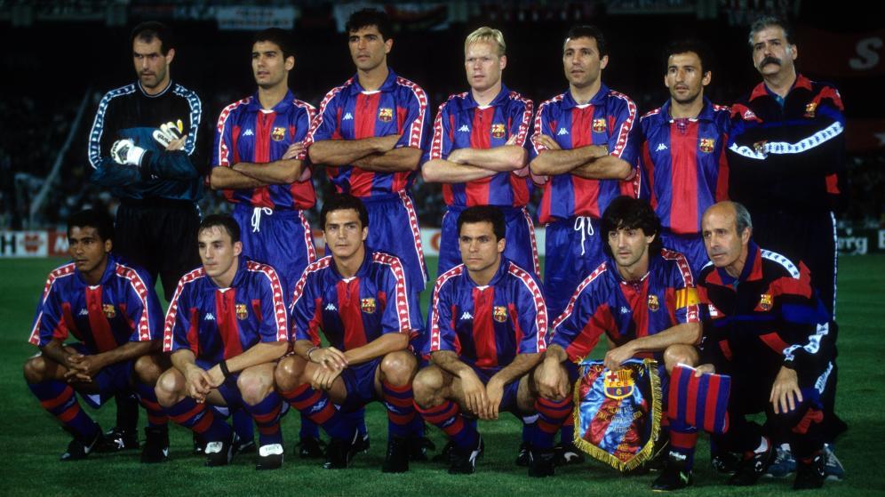 Once inicial de el FC Barcelona en El Clásico de la 93-94