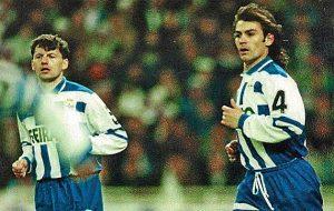 Djukic y Paco Jemez formaban la defensa del Deportivo de la Coruña