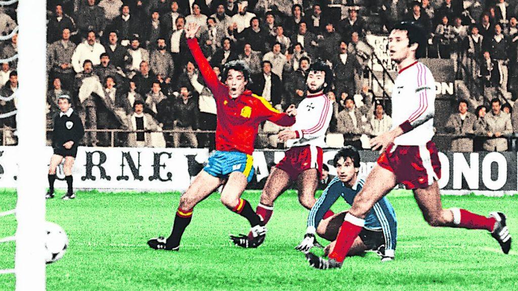 Poli Rincón marcó 4 goles en el 12-1 de España a Malta