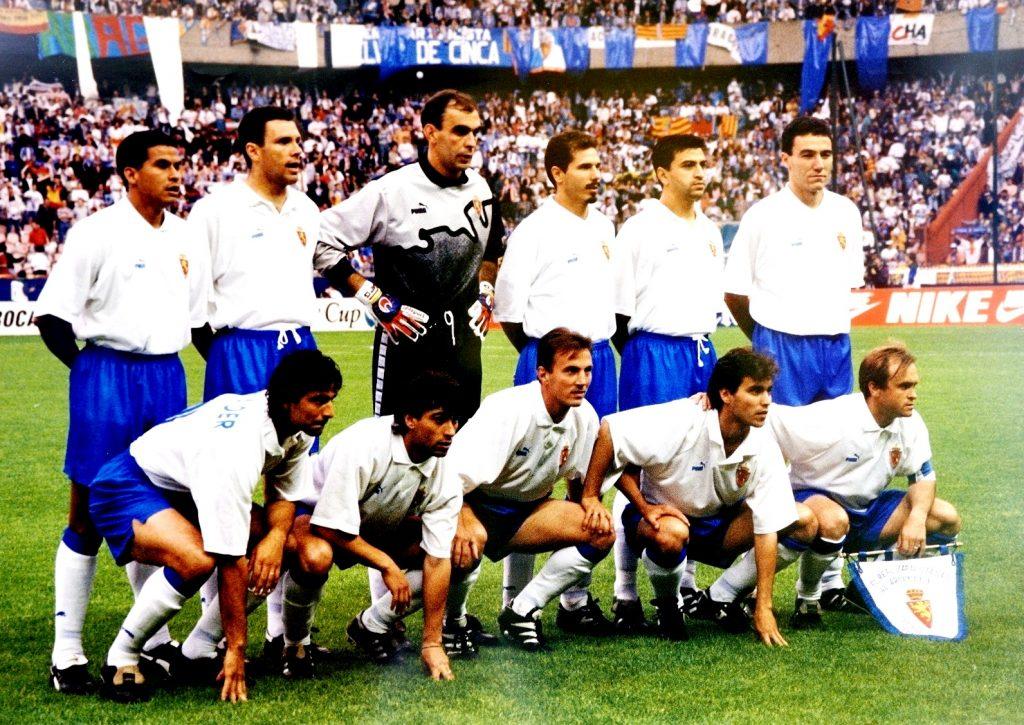 Once inicial del Zaragoza que ganó la Recopa en 1995
