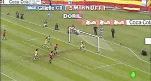 Gol fallado por Cardeñosa ante Brasil