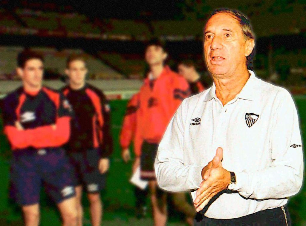 Bilardo entrenó al Sevilla en dos etapas