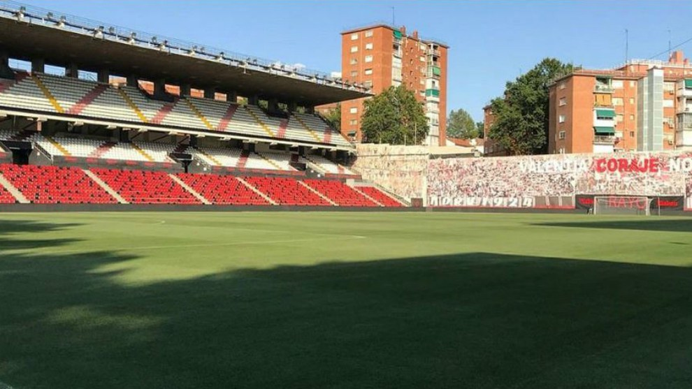 Estadio de Vallecas en el que juega el Rayo Vallecano