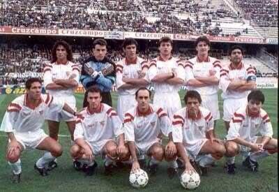 Once inicial del Sevilla entrenado por Bilardo