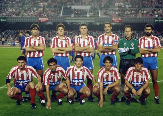 Luis Enrique destacó en el Sporting de Gijón en la temporada 1990-1991 - Odio Eterno Al Fútbol Moderno
