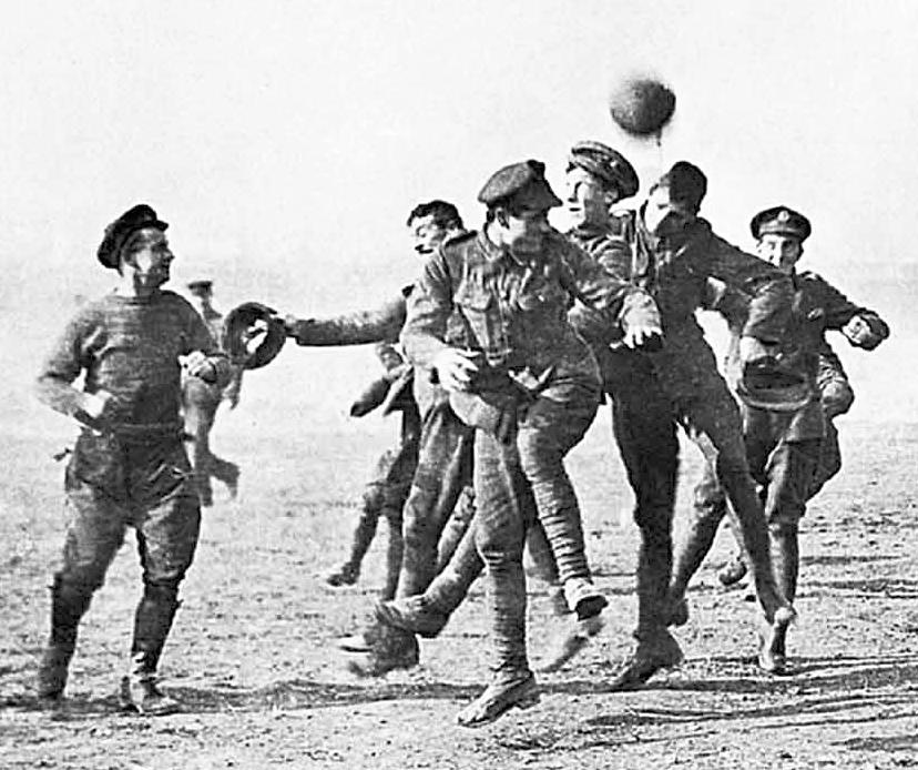 Partido de fútbol disputado durante la Tregua de Navidad