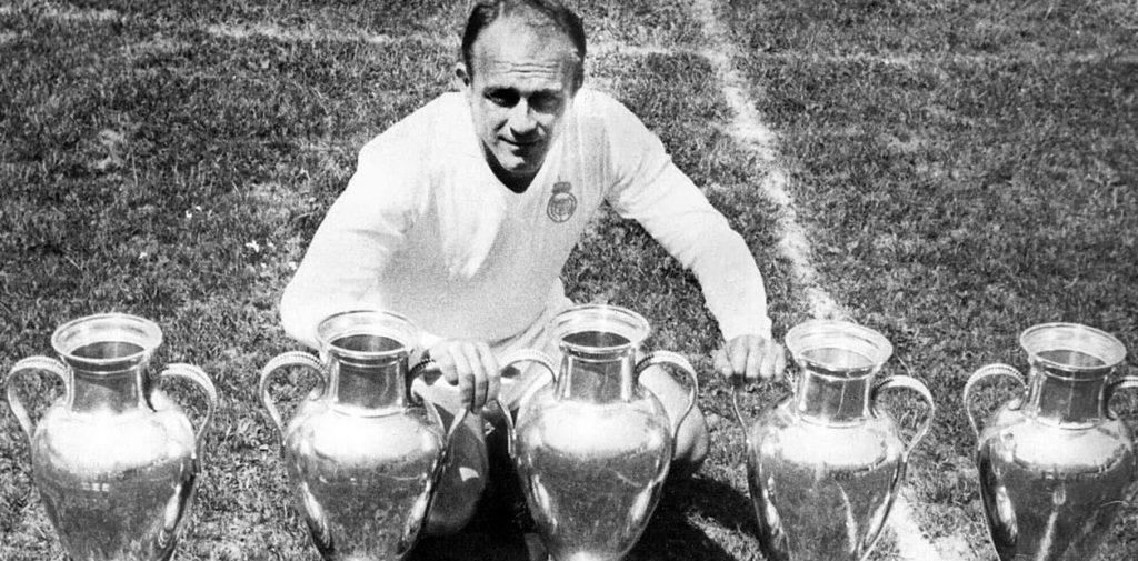 Di Stéfano ganó 5 Copas de Europa con el Real Madrid