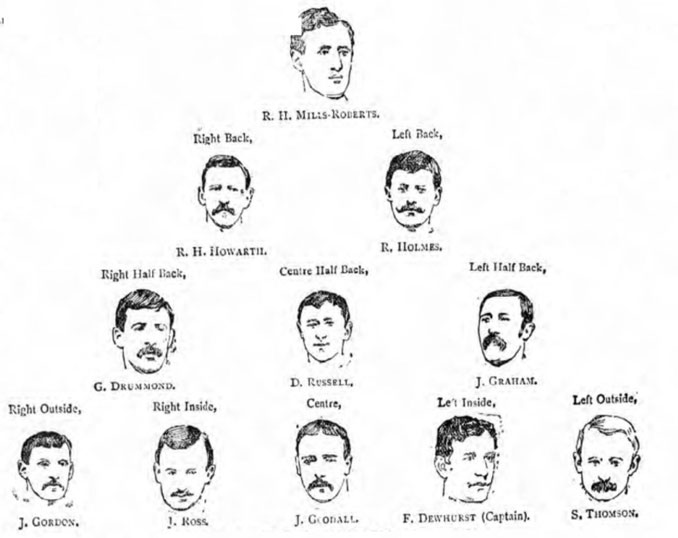 Alineación del Preston North End en la final de la FA Cup 1889