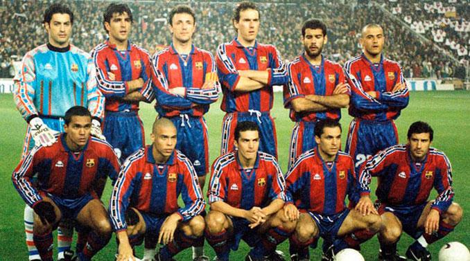 Once inicial del FC Barcelona en la temporada 96-97 - Odio Eterno Al Fútbol Moderno