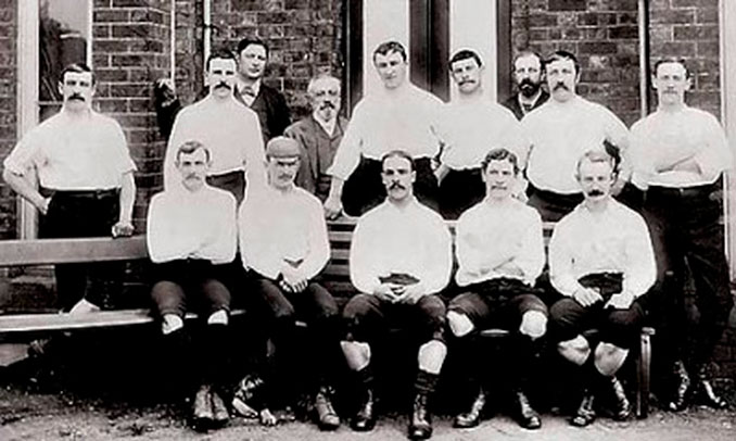 Jugadores del Preston North End en 1889