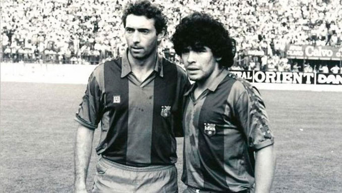 Quini coincidió con Maradona en el FC Barcelona