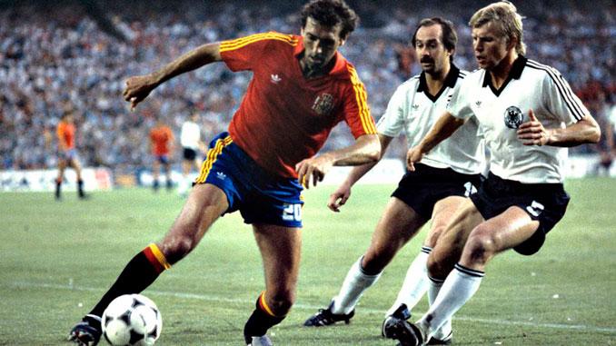 Quini con la Selección Española