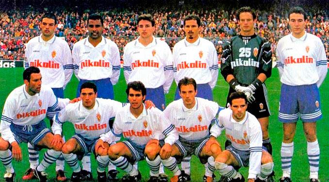 Once inicial del Zaragoza en la temporada 95-96 - Odio Eterno Al Fútbol Moderno