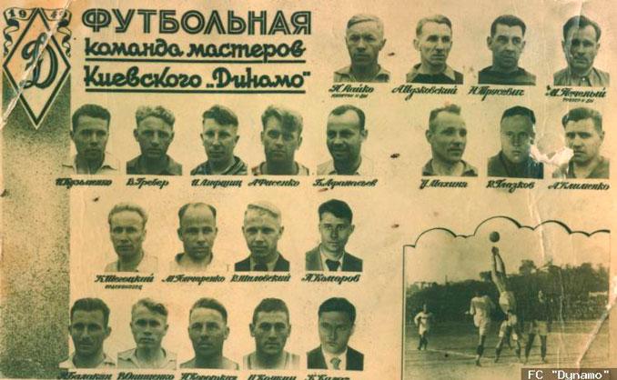 Plantilla del Dinamo de Kiev de 1941 - Odio Eterno Al Fútbol Moderno