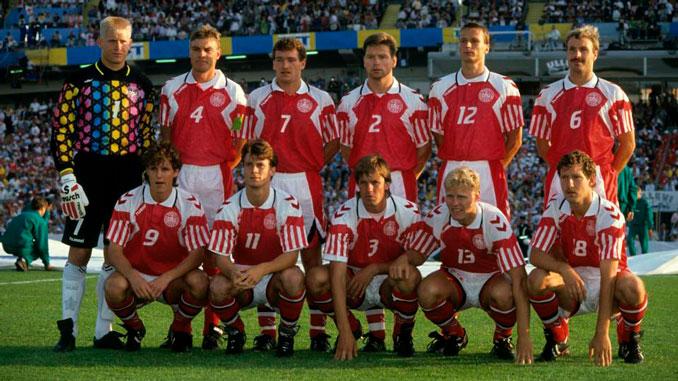 La selección danesa ganó la Eurocopa de 1992