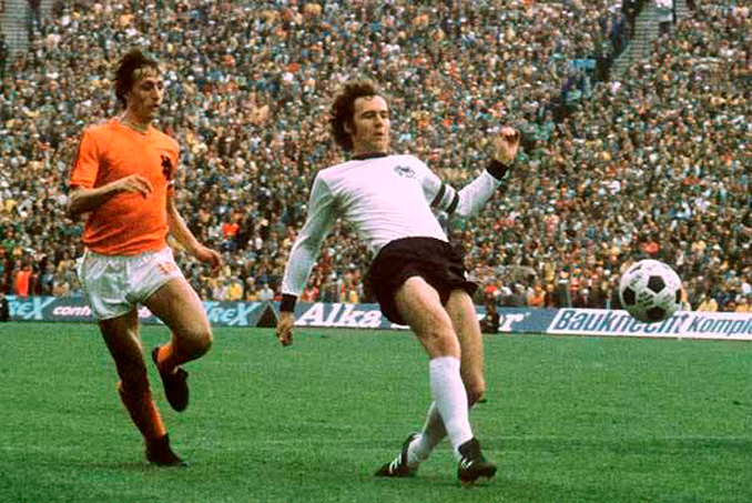 Cruyff y Beckenbauer fueron los estandartes de sus respectivas selecciones