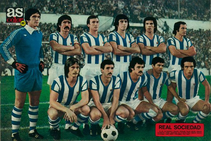 Plantilla Real Sociedad en 1976