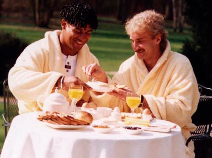 Rijkaard y Völler firmaron las paces al poco tiempo