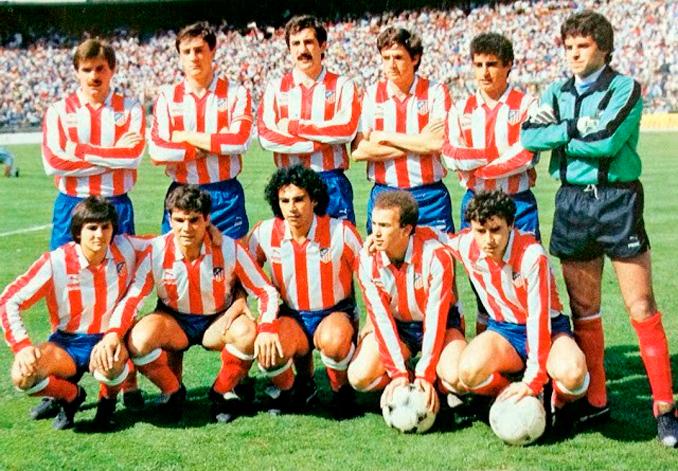 Hugo Sánchez durante su etapa en el Atlético de Madrid