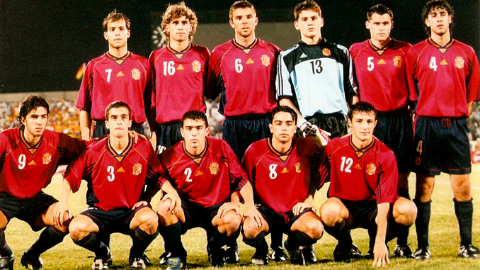 Aquel equipo formó la generación dorada del fútbol español