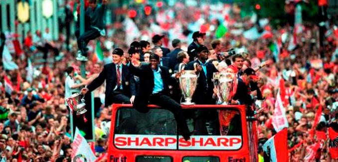 En la 98-99 el Manchester United conquistó un triplete histórico