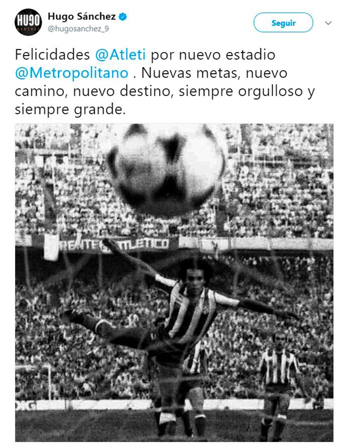 Hugo Sánchez no reniega de su pasado rojiblanco