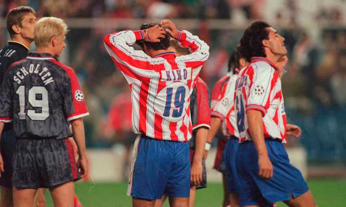 El Ajax eliminó al Atleti en la Copa de Europa 96-97