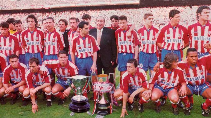 El Atleti conquistó el Doblete en 1996