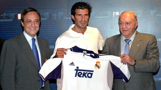 El siglo XXI empezó en el mundo del fútbol con el inesperado fichaje de Figo