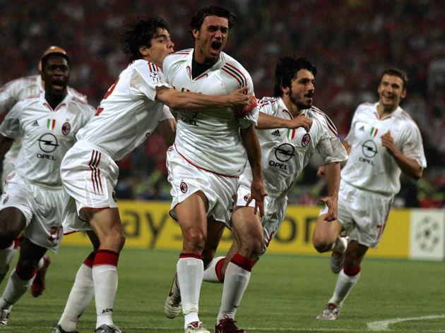 Maldini abrió el marcador en el primer minuto de la final de Estambul - Odio Eterno Al Fútbol Moderno