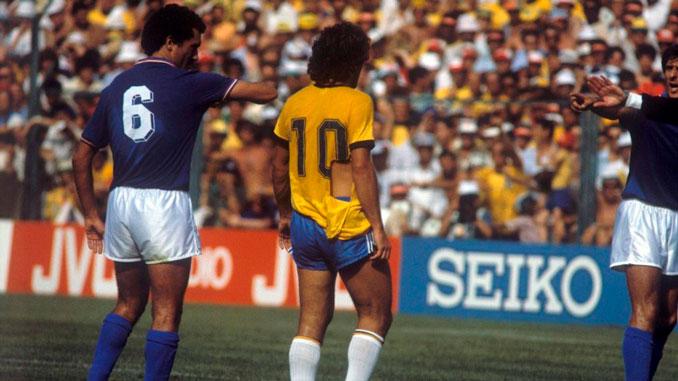 Zico también padeció el férreo marcaje de Gentile - Odio Eterno Al Fútbol Moderno
