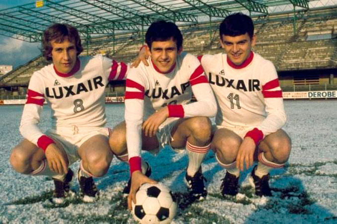 Michel Platini con la camiseta del Nancy - Odio Eterno Al Fútbol Moderno
