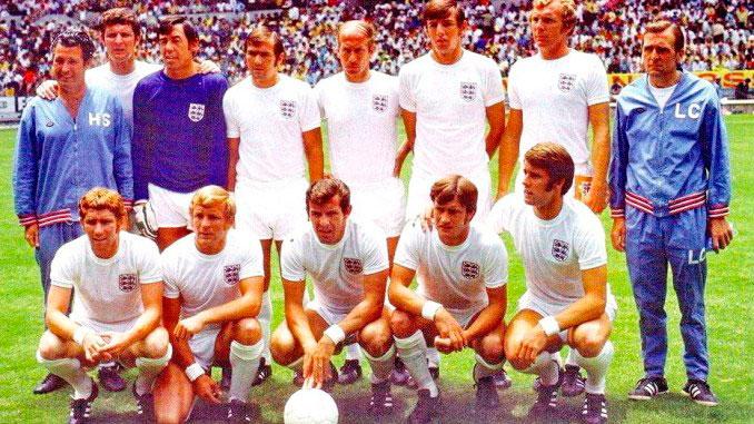 Selección inglesa durante el Mundial de 1970
