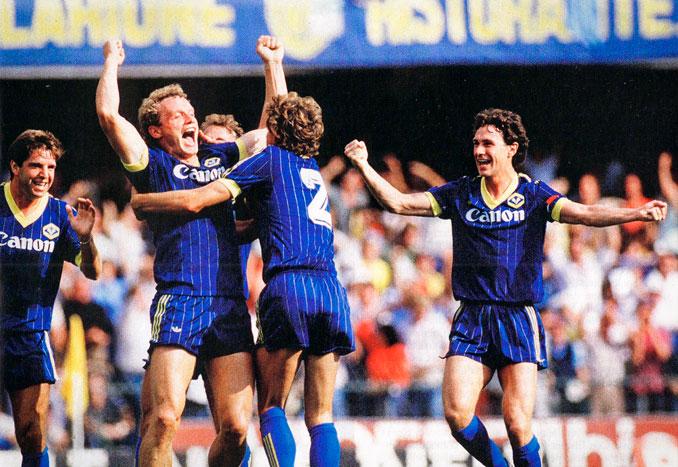El Hellas Verona conquistó el Scudetto el 12 de mayo de 1985 en Bérgamo
