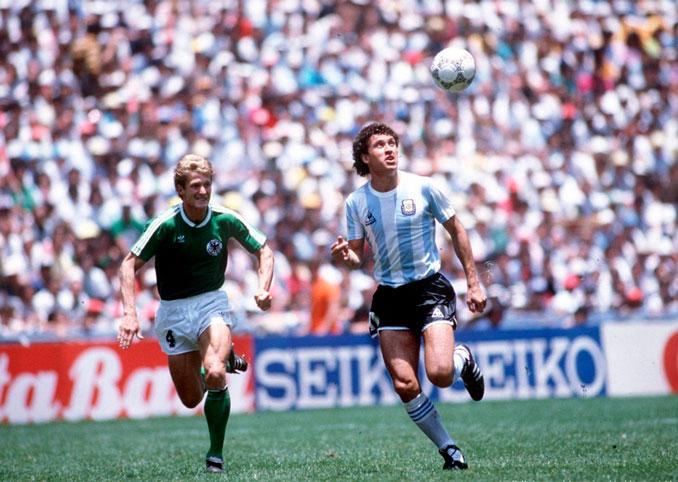 Valdano en la final del Mundial de 1986