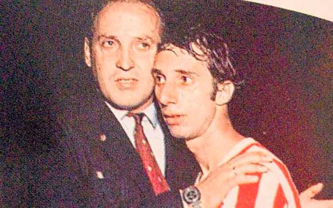 Zubeldía y Bilardo en un partido de Estudiantes de la Plata