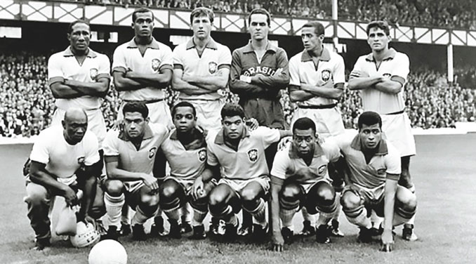 Selección brasileña durante el Mundial de Inglaterra 1966