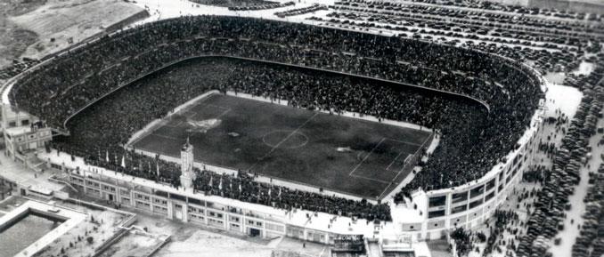 Inauguración del estadio Santiago Bernabéu el 14 de diciembre de 1947