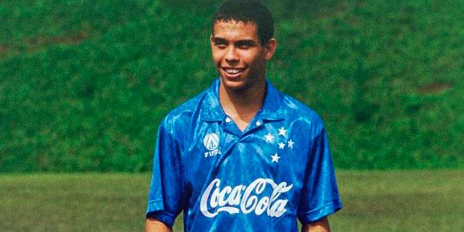 Ronaldo Nazario durante su etapa en el Cruzeiro