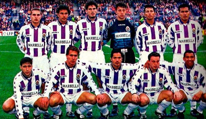 Aquel Valladolid pasó de eludir el descenso a la UEFA en un año