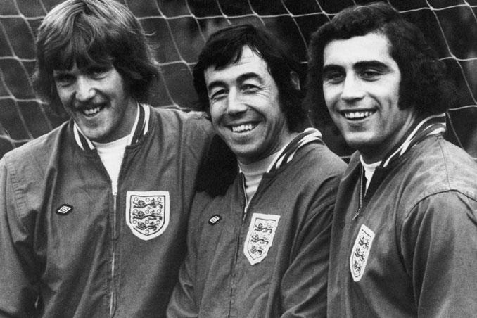 De izquierda a derecha Phil Parkes, Gordon Banks y Peter Shilton