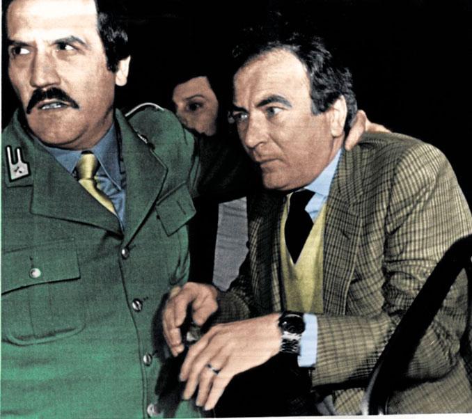 Felice Colombo durante su detención. Sería inhabilitado de por vida