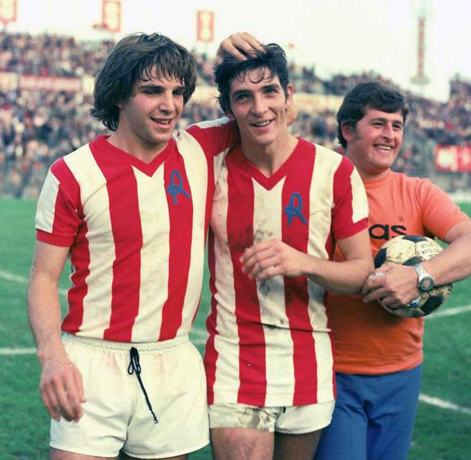 Paolo Rossi junto a Luciano Marangon durante sus inicios en el Vicenza