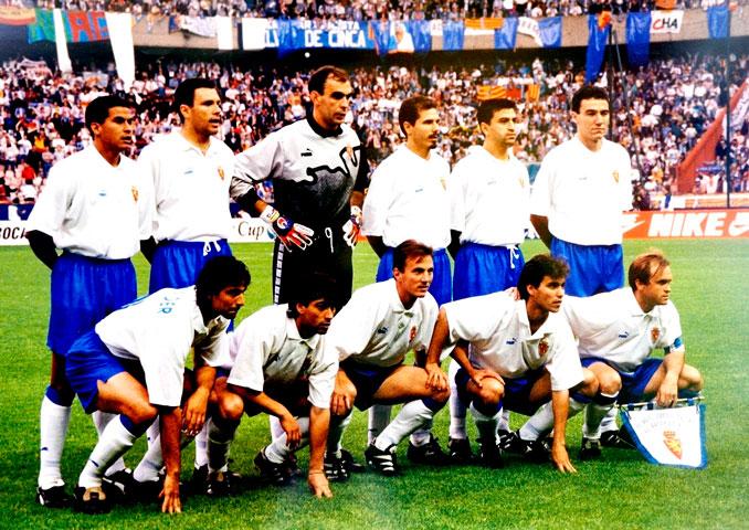 Real Zaragoza campeón de la Recopa de Europa en la temporada 94-95