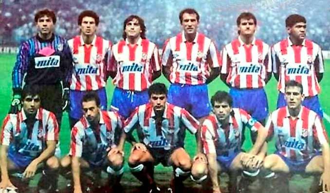 Atlético de Madrid a comienzos de los 90