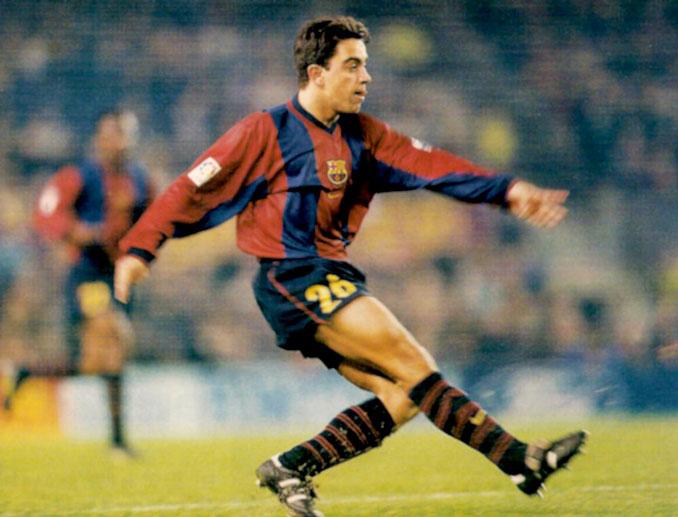 Xavi Hernández vistiendo la camiseta del FC Barcelona