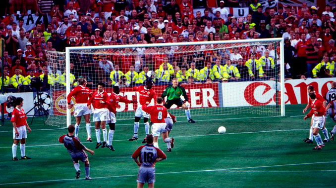 Basler abrió el marcador de la final de Copa de Europa de 1999