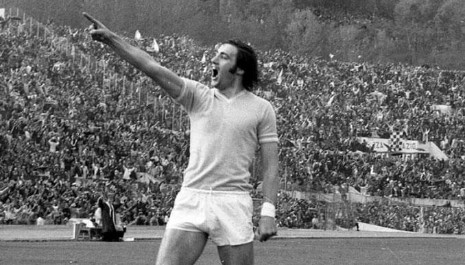 Chinaglia dedica un gol a los aficionados de la AS Roma
