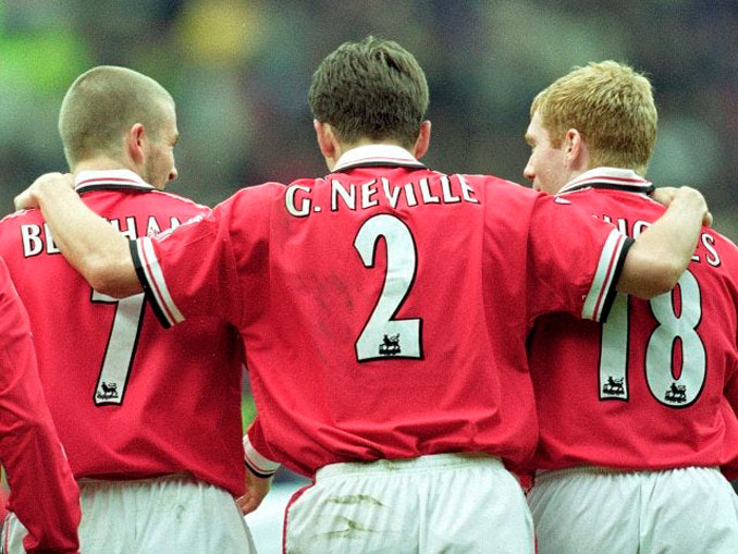 """Beckham, Neville y Scholes tres iconos de la """"clase del 99"""""""