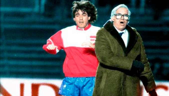 Futre y Luis Aragonés durante un entrenamiento